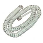 Телефонный шнур витой 4 м. белый
