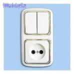 Блок 2кл. выключатель+розетка код:139