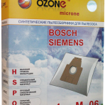 Мешки-пылесборники OZONE Euro E-06 4шт.  Bosch/Siemens тип: P